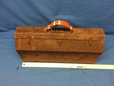 VINTAGE SK 19 inch BROWN Tool Box Hand Carry Box Empty Missing Tray