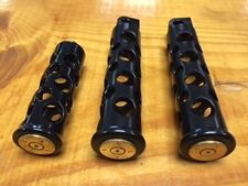 JT's Cycles Once Fired .50 caliber BMG Bullets black footpegs  Harley XL FXD FXR