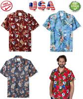 "Shirt Found Magnum PI Red ""Jungle Bird"" Print Shirt/NWT/ Hawaiian Shirt for Men"