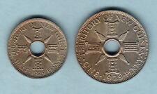 New listing New Guinea. 1929 Halfpenny & Penny - Specimen/Bu Pair. Rare.