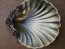 vintage (MOTION  made in USA) Soap Dish Cast Brass Shell Design