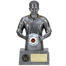A1514A X 16 RESIN FOOTBALL TROPHIES SIZE 16.5CM  FREE ENGRAVING