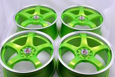 17 green Wheels Rims Neon Civic Matrix Camry Fusion Lancer Eclipse 5x100 5x114.3