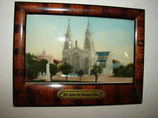 Reverse Glass Paintig in Wood Frame Ste. Anne De Beaupre, Que. - Catholic Church