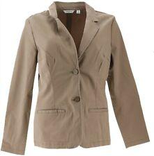 Liz Claiborne NY Blazer Pockets Mocha 12 NEW A263463