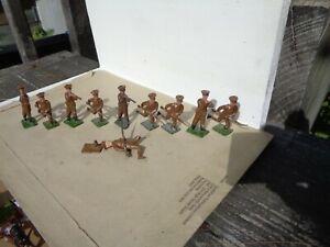 Johillco Britains, 10x ww1 British Fusiliers hollowcast, 54mm lead soldiers, AZ