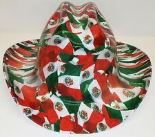 Mexican Flag Custom Western Outlaw Hard Hat Cowboy Hat