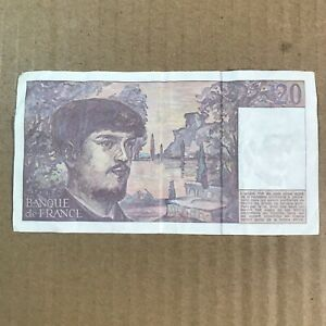 1993 20 French Francs Banknote