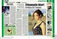 Coupure de presse Clipping 2000 (2 pages) Emmanuelle Béart