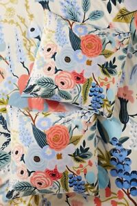 NWT ONE Anthropologie Rifle Paper Co. for Anthropologie Garden Party Euro Sham