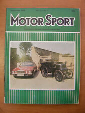 Motor Sport Magazine F1 Sports Road & Historic Cars Issue September 1976 Classic