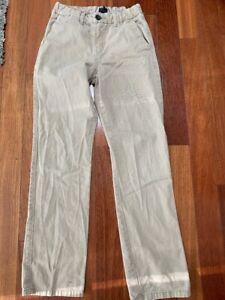 GAP Kids Boys sz 14 Uniform Tan Khaki Pants Adjustable Waist