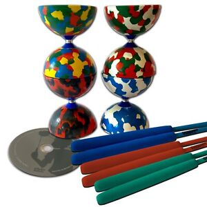 Juggle Dream Jester Diabolo (diablo) with Pro sticks, instructions and DVD