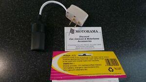 CLIPSAL CARAVAN MOTORHOME 12V 2 PIN PLUG ADAPTOR TO FEMALE CIGARETTE SOCKET