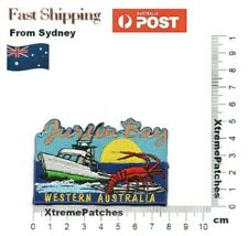 Jurien Bay Western Australia Embroidered Iron Sew on Patch Badge Motif