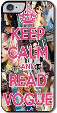"""Cover per iPhone 6 e 6s con stampa  """"Keep Calm and read Vogue"""" fashion moda"""