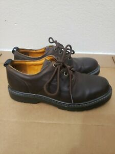 Timberland Brown Leather Ankle Boots Mens Size 8 M 95040 WATERPROOF S055