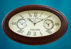 Antique Style Brass Wooden Wall Clock World Time Clock Wall Decor Nautical Gift