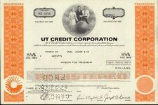 UT CREDIT CORPORATION : UNITED TECHNOLOGIES    USD 25,000.00 old bond 1976