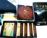 Riven sequel to Myst 5 Disc Box set Manual & Strategy Guide Extras 1997 PC game