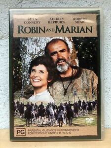 Robin and Marian DVD - Rare Sean Connery Movie 1976 Audrey Hepburn Robert Shaw