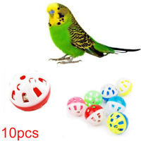 10Pcs Rolling Bell Ball Pets Hollow Bird Toys For Parakeet Parrot Chew Cage Toy
