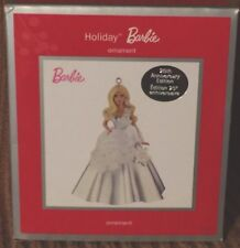 Barbie Silver Holiday Dress 25th Anniversary Collector's Ed Christmas Ornament