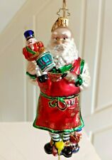 "Christopher Radko ""Santa Toy-Maker"" Ornament Santa Nutcrackers Paints Workshop"