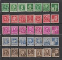 US,859-893,COMPLETE SET,FAMOUS AMERICANS 1940,MNH,VF, COLLECTION MINT NH,OG