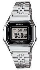 Orologio Casio LA680WA-1DF in acciaio fondo nero vintage digitale misura media