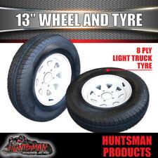13 x 4.5 175 LT Sunraysia Ht Holden Wheel Rim & Tyre White Caravan Trailer Boat