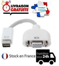 CABLE ADAPTATEUR CONVERTISSEUR MINI DVI MALE / VGA HD 15 BROCHES FEMELLE MACBOOK