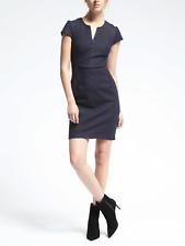 Banana Republic Denim Angled Seam Dress, Navy SIZE 12         #585263 v1126