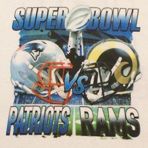 Super Bowl LIII Atlanta New England Patriots Los Angeles Rams T-Shirt NFL, Large