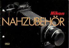 Broschüre Prospekt Nikon Nähzubehör German