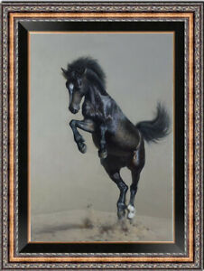 "Original Animals Oil painting art runing  horse on Canvas 24""x36"""