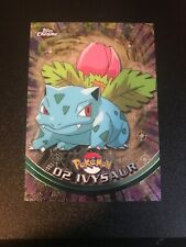 Pokémon Ivysaur 02 Topps Chrome TV  Holo Pokemon Card EX/NM Pack Fresh