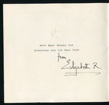 FINE HAND SIGNED CHRISTMAS CARD QUEEN ELIZABETH QUEEN MOTHER BIRKHALL 1956