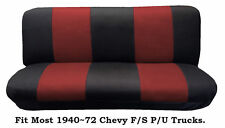 Mesh Black/Red This Seat Cover Fit Most 1940~72 Chevy Full size Trucks Models