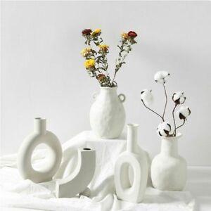 Ceramic Flower Vase Home Decoration Ornament White Vegetarian Pot Art Craft Gift