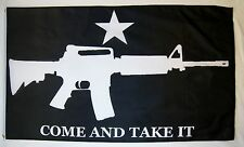 Come And Take It Black Rifle Flag 3' x 5' Gun Owner Rights Indoor Outdoor Banner
