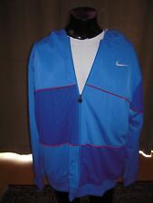 Nike Track Jacket Hoody Blue Ipod Mp3 Pocket Rare Fresh Mens Size Large Full Zip