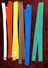 Set Of 6 Gently Used Vintage Martial Arts Belts #3/4