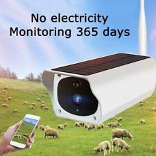 Outdoor Solar Power IP Camera Wireless Wifi Surveillance Camera Night J8L9