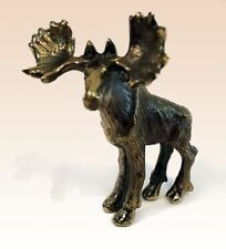 Miniature Bronze Figurine Moose animal sculpture art manual processing rare