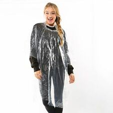 Hooded plastic fold away poncho festivals theme parks days out British summer
