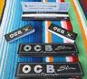 3 Heftchen OCB Schwarz Premium long slim Heft à32 papers Filter Tips mit 1 Extra