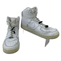 Nike Air Force One Sneakers Men's Size 11.5 All White High Top Basketball Shoes