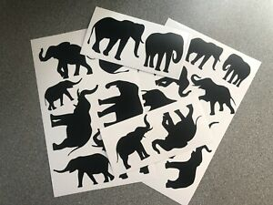 Elephant Sticker Collection vinyl wall car sticker self adhesive decal kids