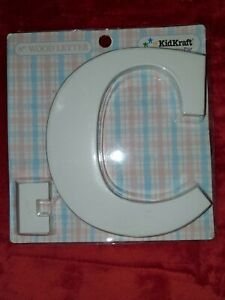 KidKraft 8 Inch White Wooden Letter 'C' - Hangs or Stands